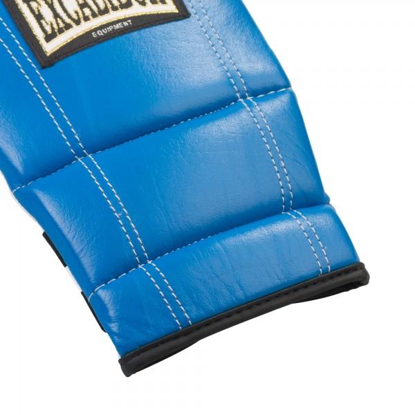 Перчатки снарядные Excalibur 603/02 Буйволиная кожа Leather - Blue/Ice