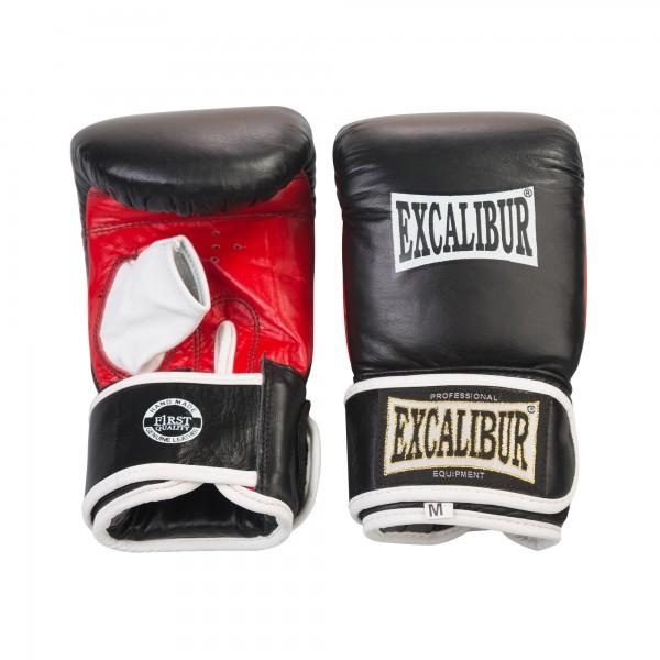 Перчатки снарядные Excalibur 604/02 Буйволиная кожа Leather - Black/Red