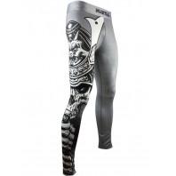 Компрессионные штаны Athletic pro. Samurai Skull Grey MSP-143