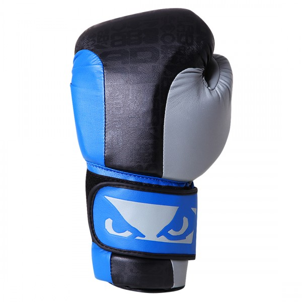 Перчатки боксерские Bad Boy Legacy Boxing Gloves Black/Blue/Grey