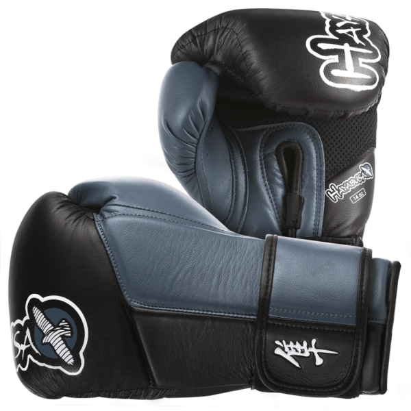 Перчатки боксерские Hayabusa Tokushu 14oz Gloves Black/Steel Blue