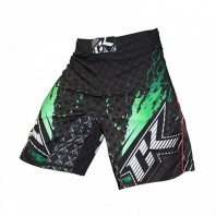 Шорты ММА Contract Killer Stained S2 Shorts - Black/Green