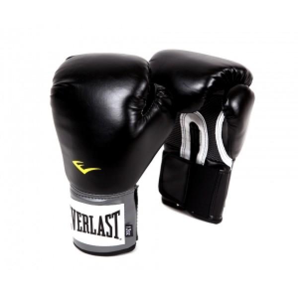 Перчатки боксерские Everlast PU Pro Style Anti-MB Черные