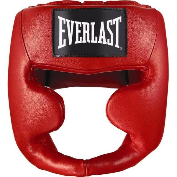Шлем боксерский Everlast Martial Arts Leather Full Face Красный