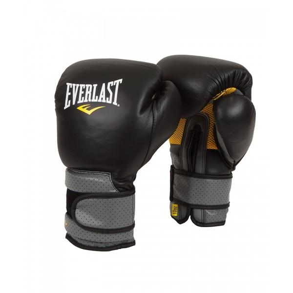 Перчатки боксерские Everlast Pro Leather Strap Black