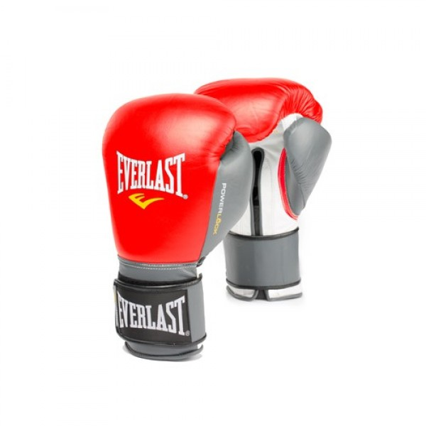 Перчатки боксерские Everlast  Powerlock Красно-Серые