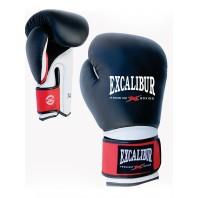 Перчатки боксерские Excalibur 8041/02 Black/White Буйволиная кожа