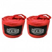 Бинты боксерские Excalibur Красные 3,5 м