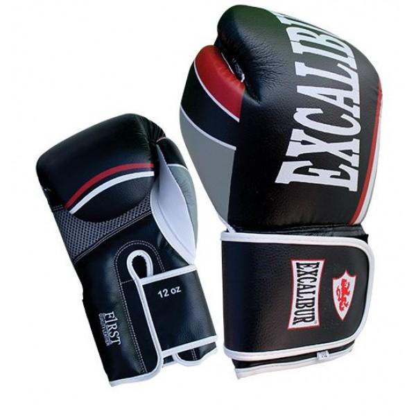 Перчатки боксерские Excalibur 8001-01 Black/White Buffalo<br>Вес кг: 1000.00000000;