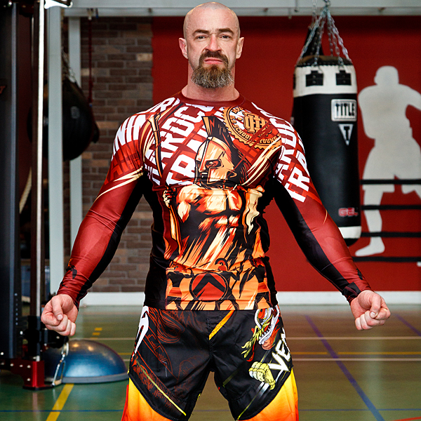 Рашгард Hardcore Training Sparta Red L/S