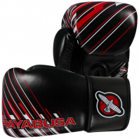 Перчатки боксерские Hayabusa Ikusa Charged 10oz Gloves-Black/Red