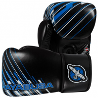 Перчатки боксерские Hayabusa Ikusa Charged 12oz Gloves-Black/Blue