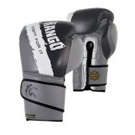Перчатки боксерские Kango BAK-022 Black/Grey/White Буйволиная кожа