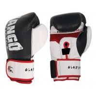 Перчатки боксерские Kango BVK-017 Black/White Буйволиная кожа