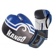 Перчатки боксерские Kango BVK-028 Blue/White PU