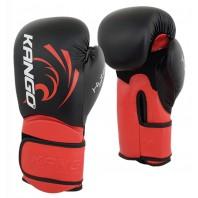 Перчатки боксерские Kango BVK-085 Black/Red PU