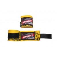 Бинты боксерские Kango KAC-425 Yellow/Black 4m