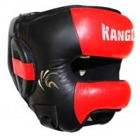 Шлем боксерский Kango KHG-057 Black/Red PU