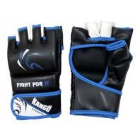 Перчатки ММА Kango KMA-230 Black/Blue PU
