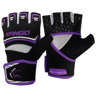 Перчатки ММА Kango KMA-250 Black Purple/White