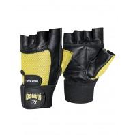 Перчатки для фитнеса Kango WGL-069 Black/Yellow