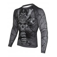 Рашгард Athletic pro. Samurai Skull Grey MRG-120