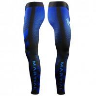Компрессионные штаны Athletic pro. blue fitness MSP-145