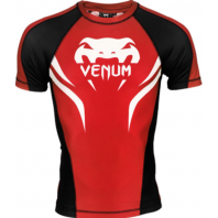 Рашгард Venum Electron 2.0 Red/Black S/S
