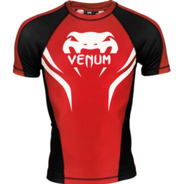 Рашгард Venum Electron 2.0 Red/Black S/S