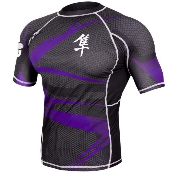 Рашгард Hayabusa Metaru Rashguard Black/Purple S/S