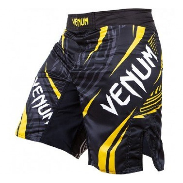 Шорты ММА Venum Lyoto Machida Ryujin Fightshorts - Black/Yellow