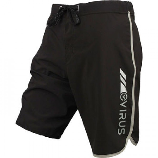 Шорты ММА VIRUS Airflex 4-Way Stretch Training Shorts - Black with Silver