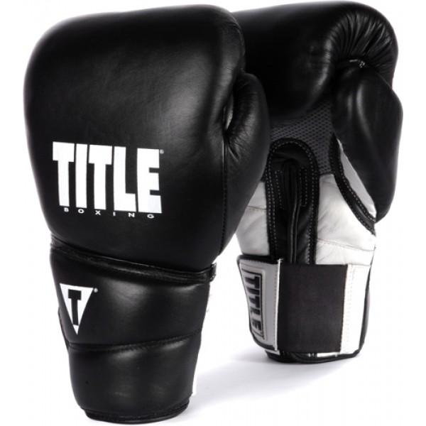 Перчатки боксерские Title Revolution Hook and Loop Black