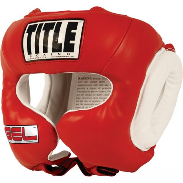 Шлем боксерский Title Gel World Training Reg Красный