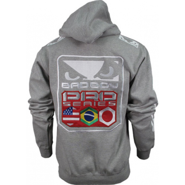 Толстовка Bad Boy Pro Series Walk In Zip Hoodie Heather Grey