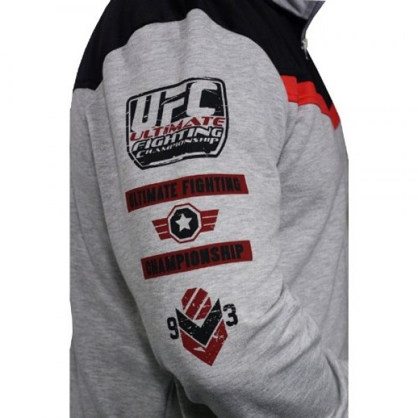 Толстовка UFC Sponsor Zip Fleece Grey