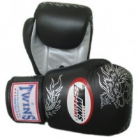 Перчатки боксерские Twins FBGV-6S Black