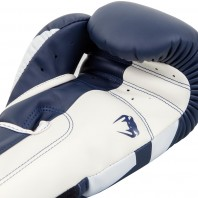 Перчатки боксерские Venum Elite Navy Blue/White