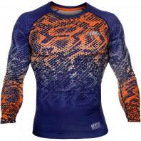 Компрессионная футболка Venum Tropical Blue/Orange L/S
