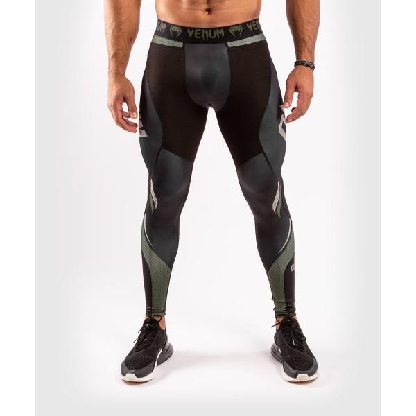 Компрессионные штаны Venum ONE FC Impact Black/Khaki