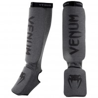 Щитки Venum Kontact Grey/Black