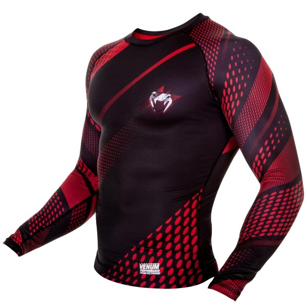 Рашгард Venum Rapid Black/Red L/S
