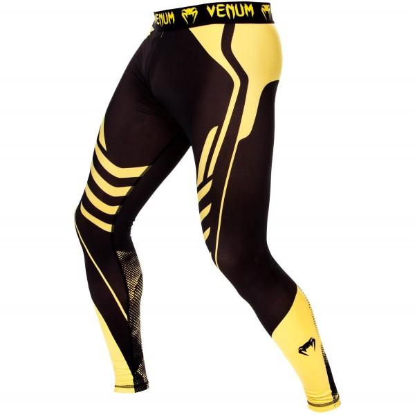 Компрессионные штаны Venum Technical Black/Yellow