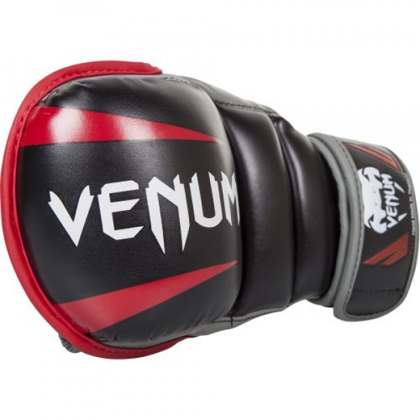 Перчатки ММА Venum Elite Sparring Black/Red/Grey