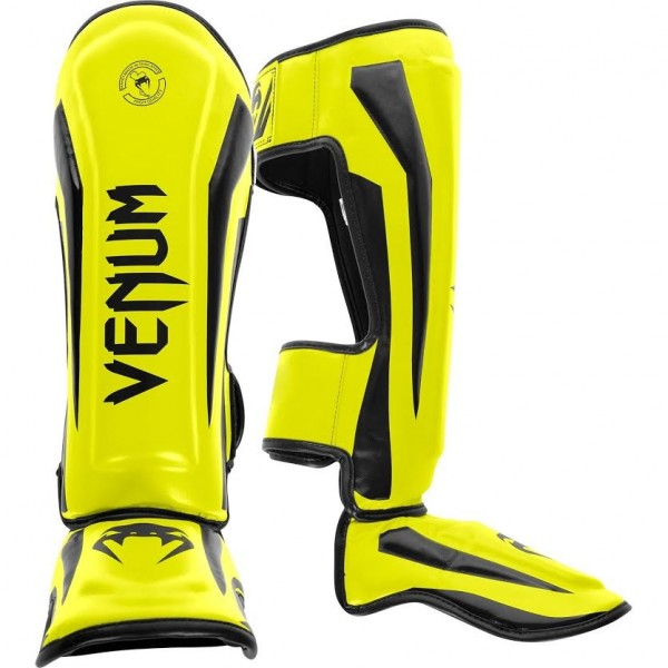 Щитки Venum Elite Neo Yellow