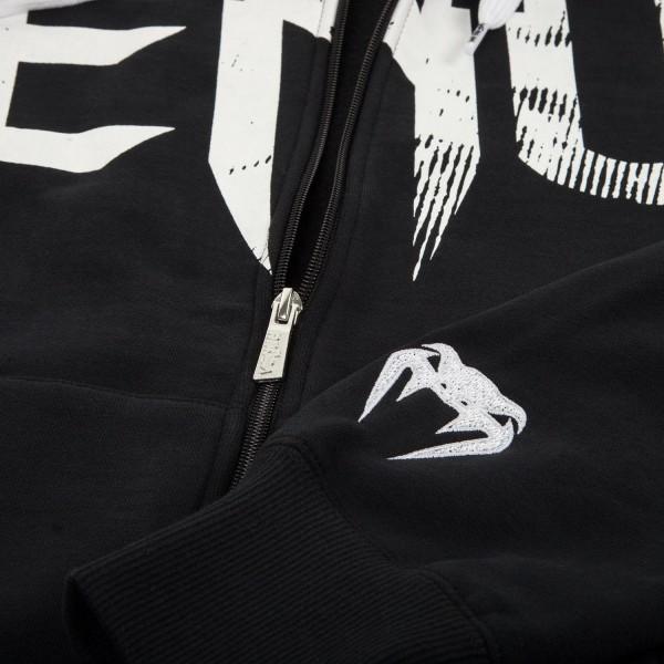 Толстовка Venum Undisputed Hoody Black - White Logo