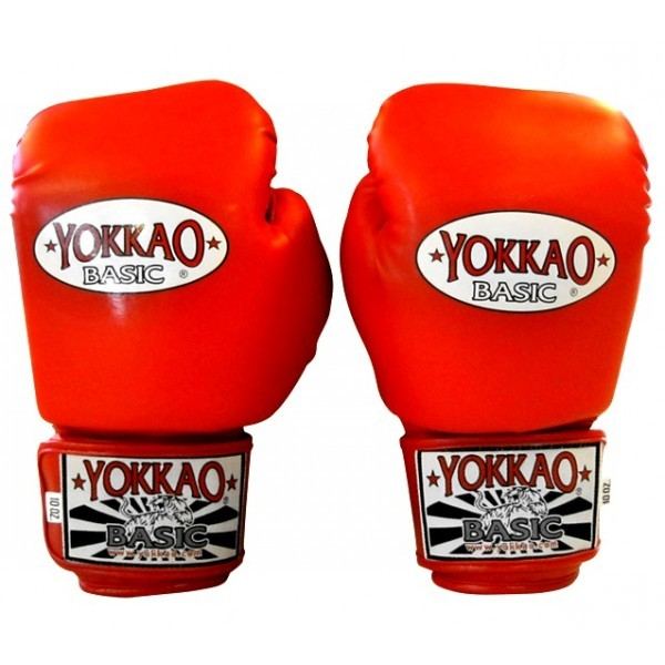 Перчатки боксерские Yokkao Basic Gloves Velcro Red (BYGS-1 Red)