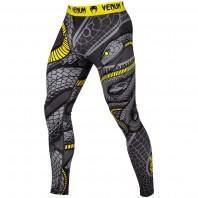 Компрессионные штаны Venum Snaker Black/Yellow