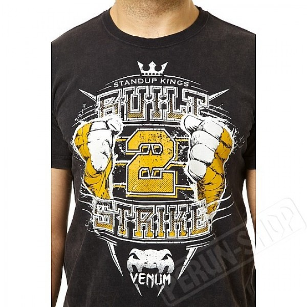 Футболка Venum Built to Strike 2.0 T-shirt Black