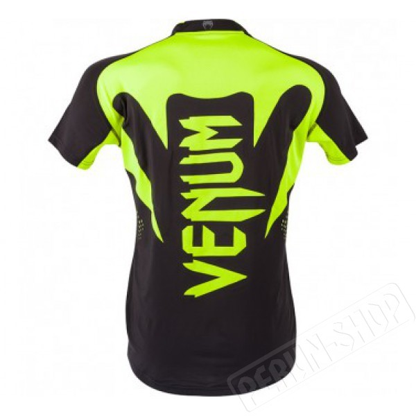 Футболка Venum Hurricane X-fit™ t-shirt - Black-Neo yellow